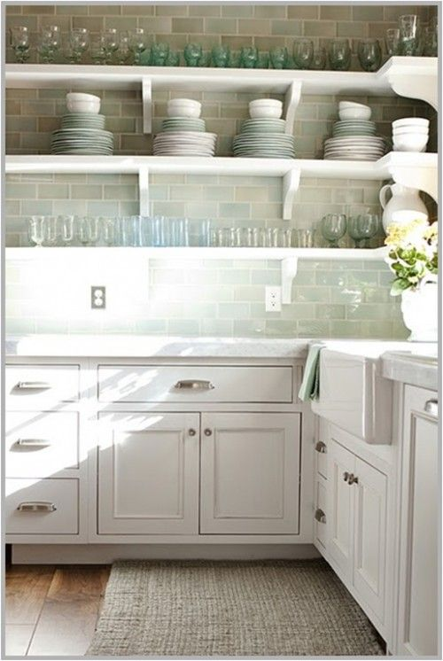 Design in mind no upper cabinets in the kitchen coats for Small upper kitchen cabinets