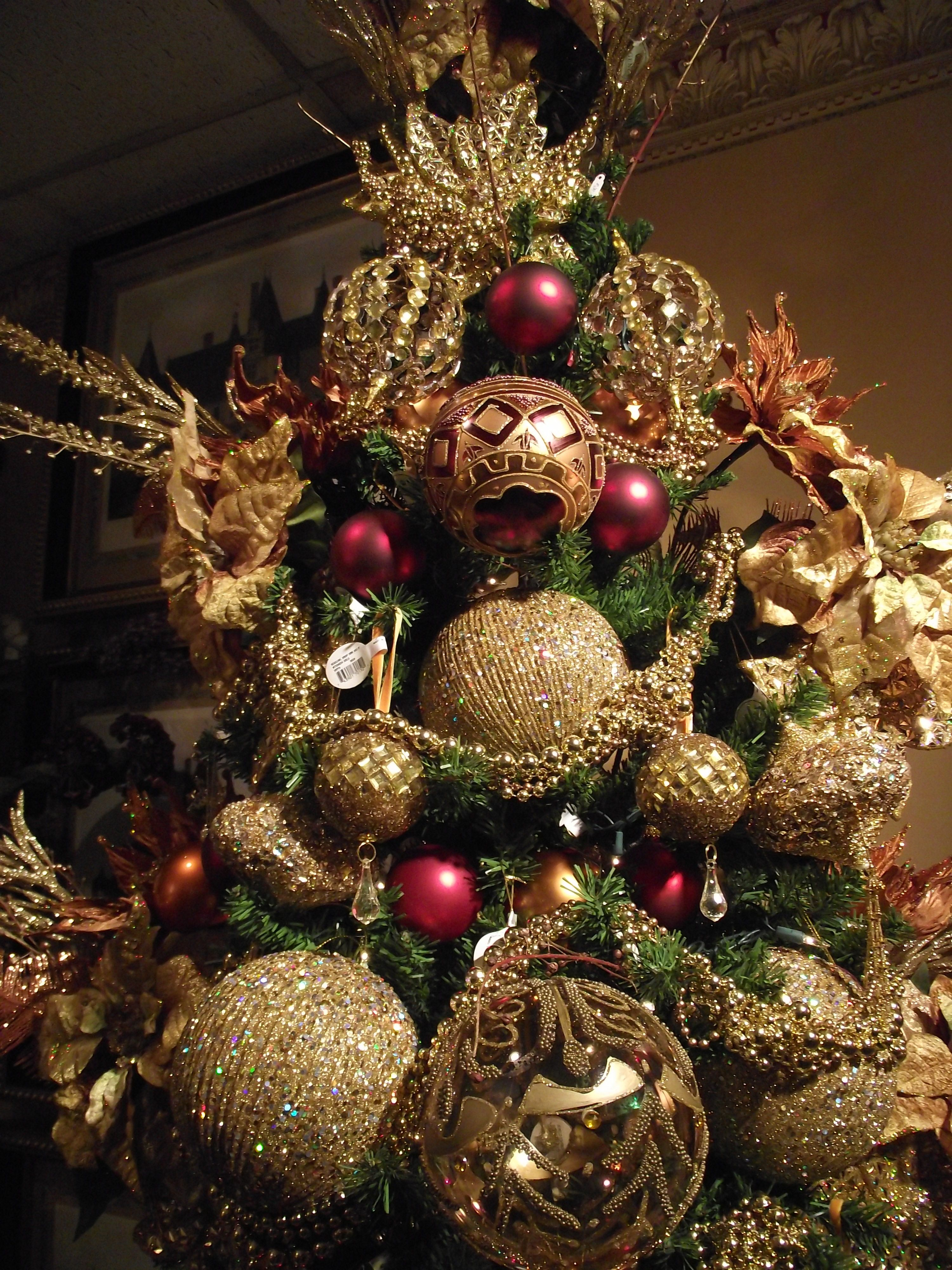 Christmas Decorations And Trees Uk : Red gold and copper tree check more at http hrenoten