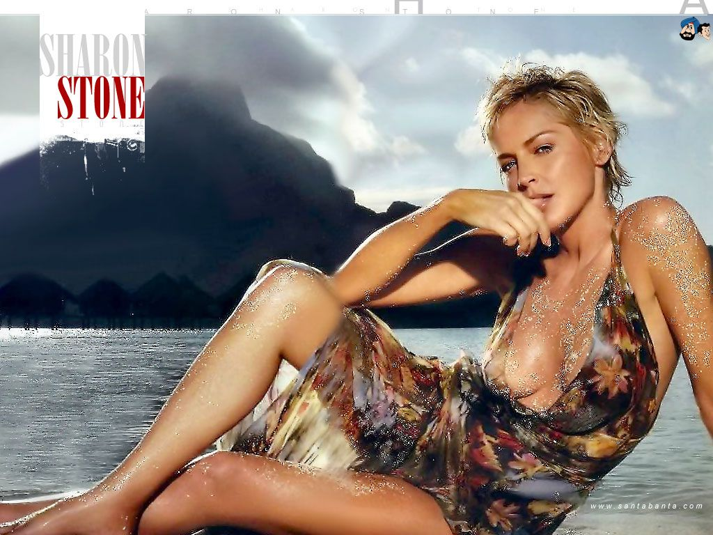 A professional image of Sharon Stone on the Playboy Cover
