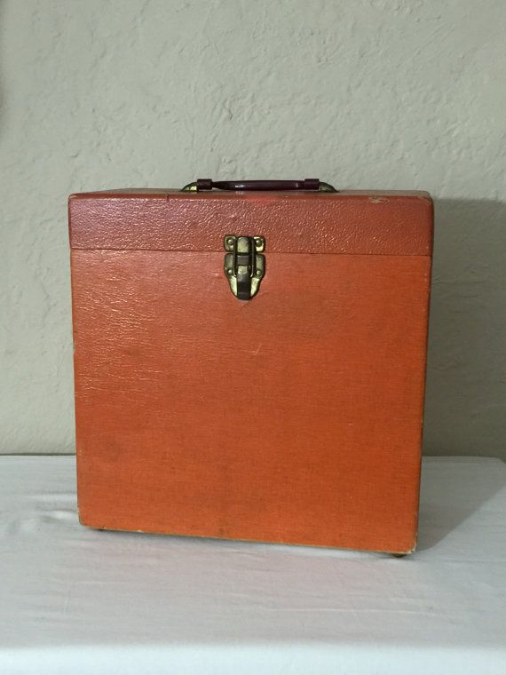Record Album Carrying Case Vintage Storage Box For 12 Inch Etsy Vintage Storage Vinyl Records Vinyl