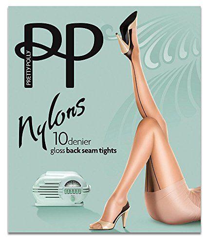 9d83e69cb82 Pretty Polly 10D Gloss Backseam Tights Style PNAKQ4 at Amazon Women s  Clothing store
