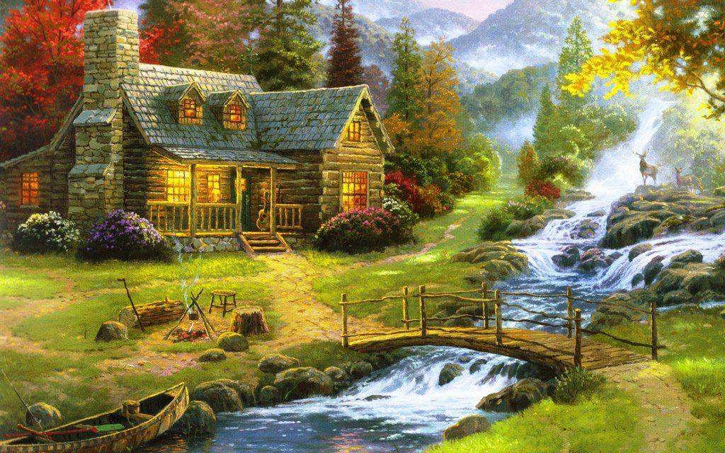 Lukisan Pemandangan Alam Yang Indah  Coloring  Large