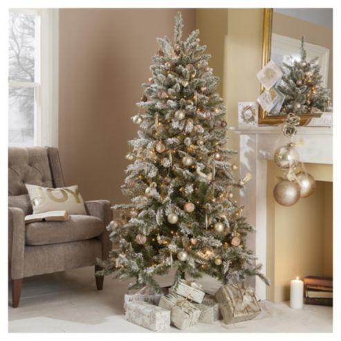 Buy 6ft Christmas Tree Aspen Flocked From Our Christmas Trees Range Tesco 6ft Christmas Tree Christmas Tree Decorations Christmas Tree