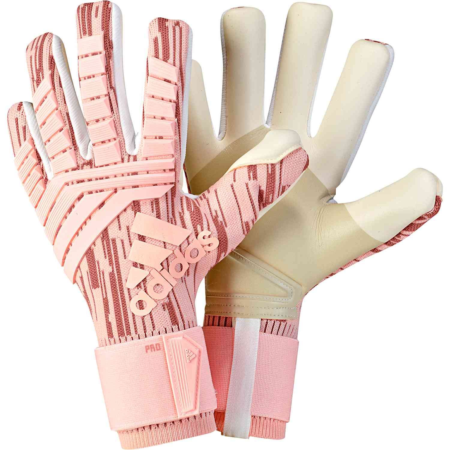 adidas Predator Pro keeper gloves in trace pink. Get these super gloves  from SoccerPro today 15123ad58fba0