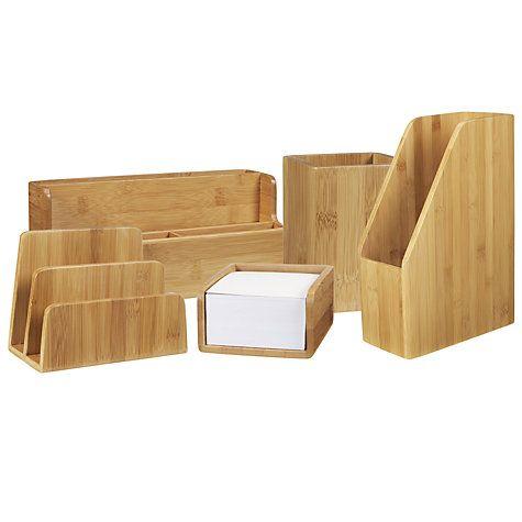 John Lewis Bamboo Desk Accessories