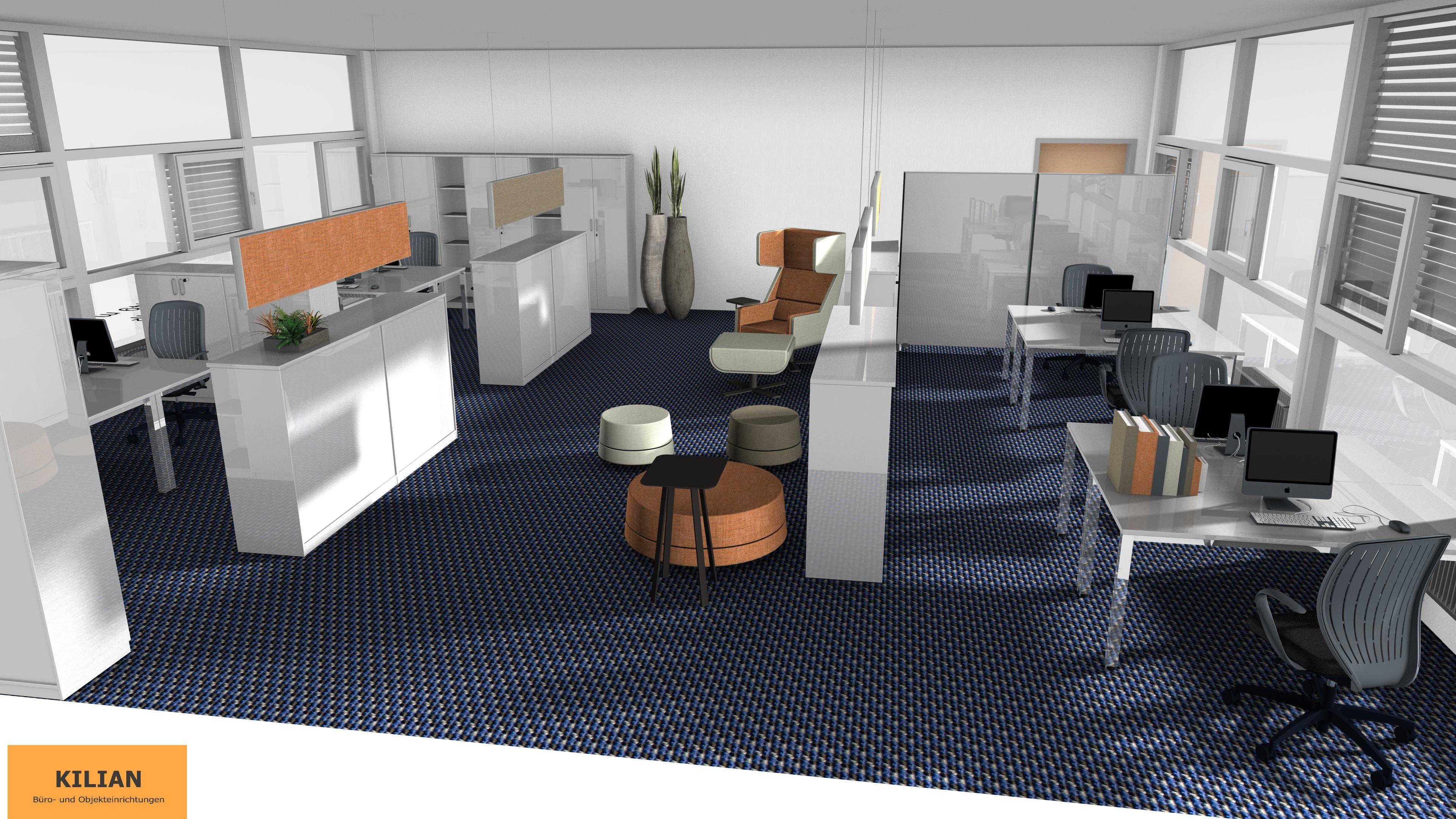 Gruppenbüro Planung München Planungen Büroplanung Büromöbel