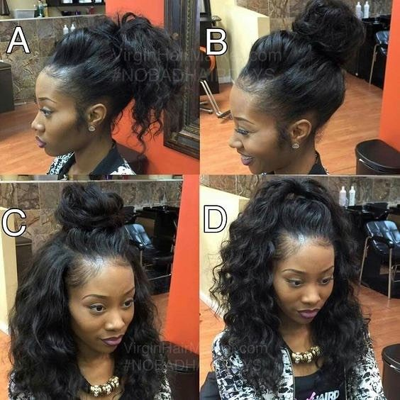 Never Worn A Weave But I Wouldn T Mind A Sew In Like This Hairstyles Waves Topknot Updo Braids Haircut C Hair Styles Natural Hair Styles Curly Hair Styles