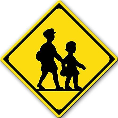 children crossing sign picture on stretched canvas wall art decor