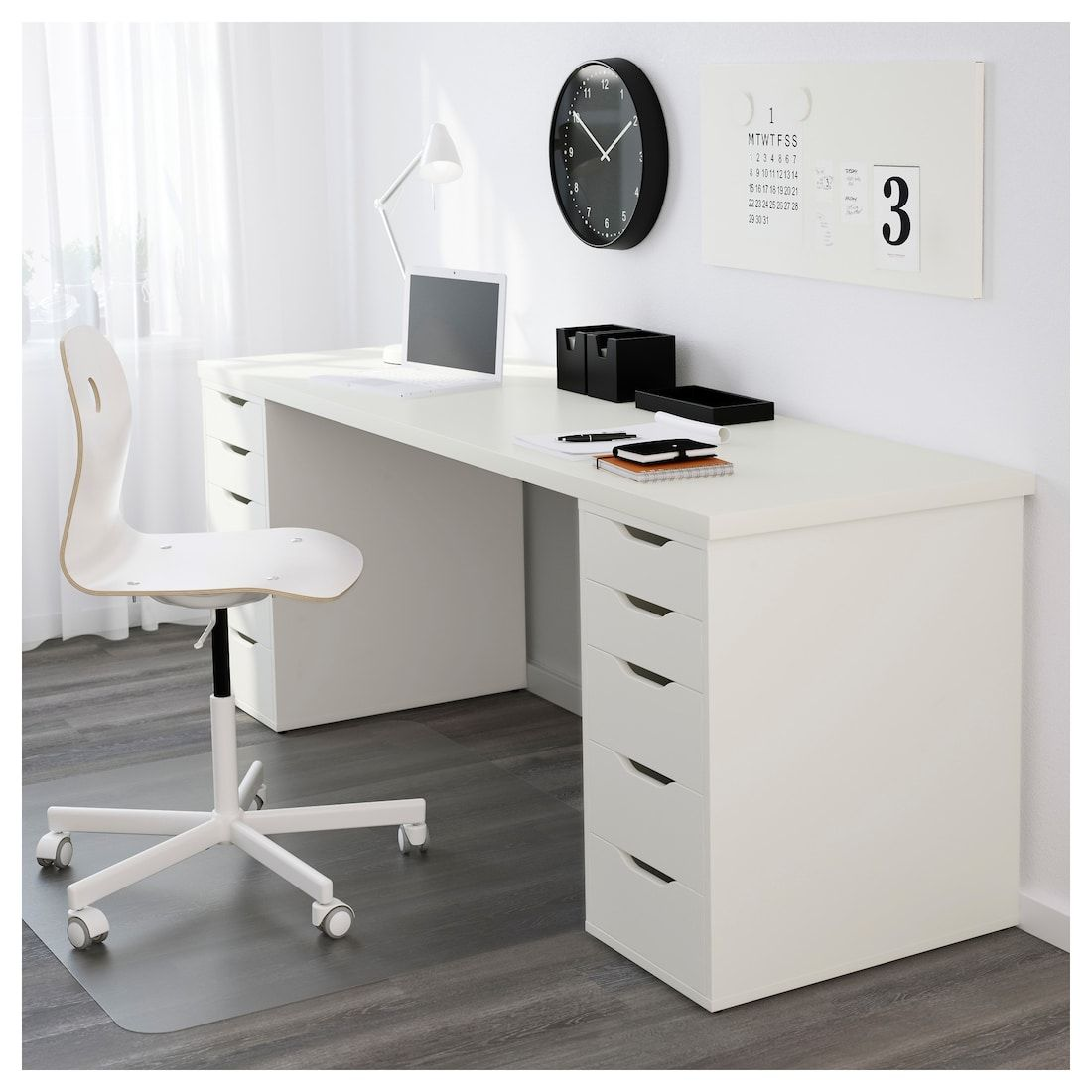 Linnmon Alex Table White 78 3 4x23 5 8 Ikea Cheap Office Furniture Home Office Design Drawer Unit