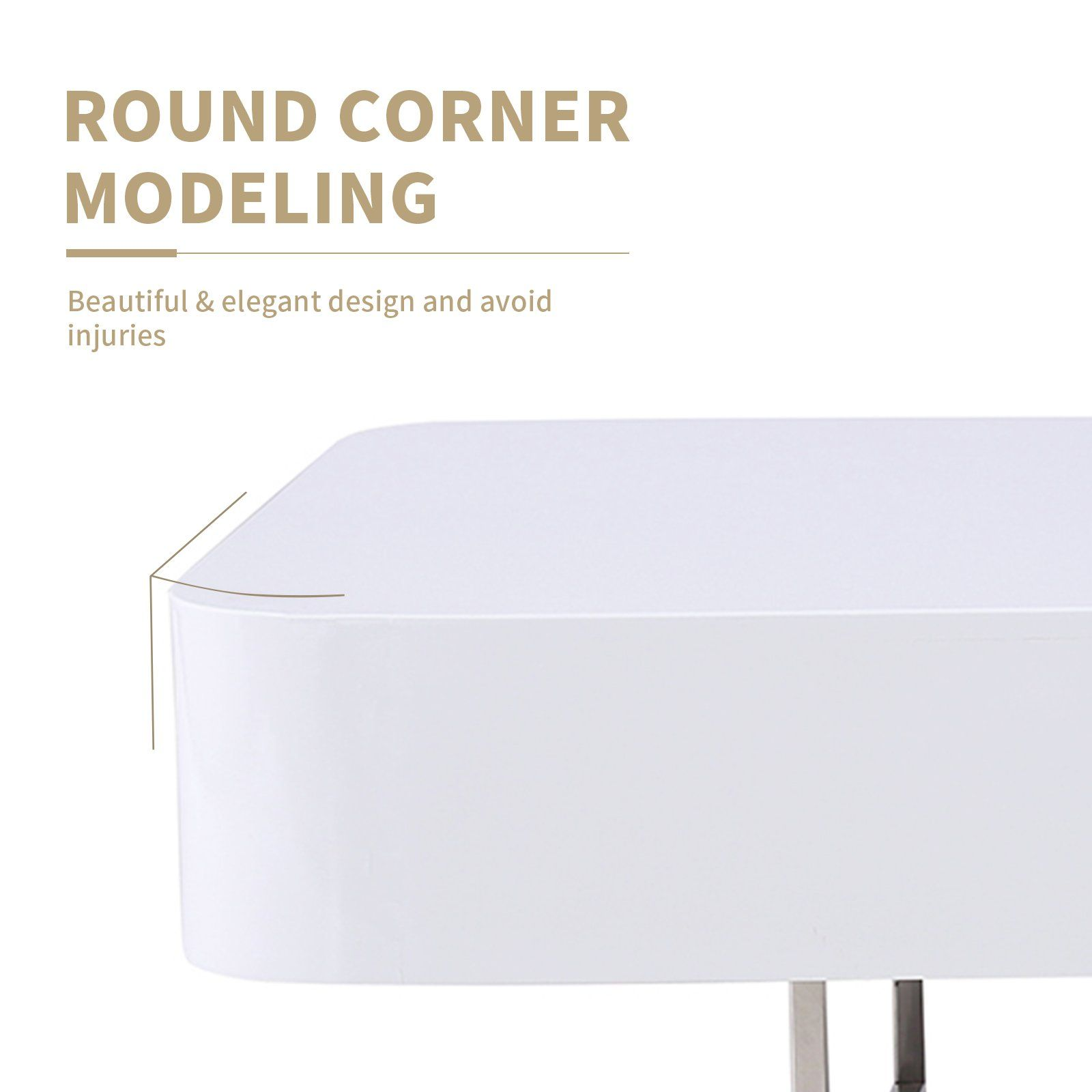 Mecor Coffee Table Nesting End Side Tables With White Glossy Desktop For Home And Office Want Additional Information Coffee Table Side Table Elegant Design [ 1600 x 1600 Pixel ]