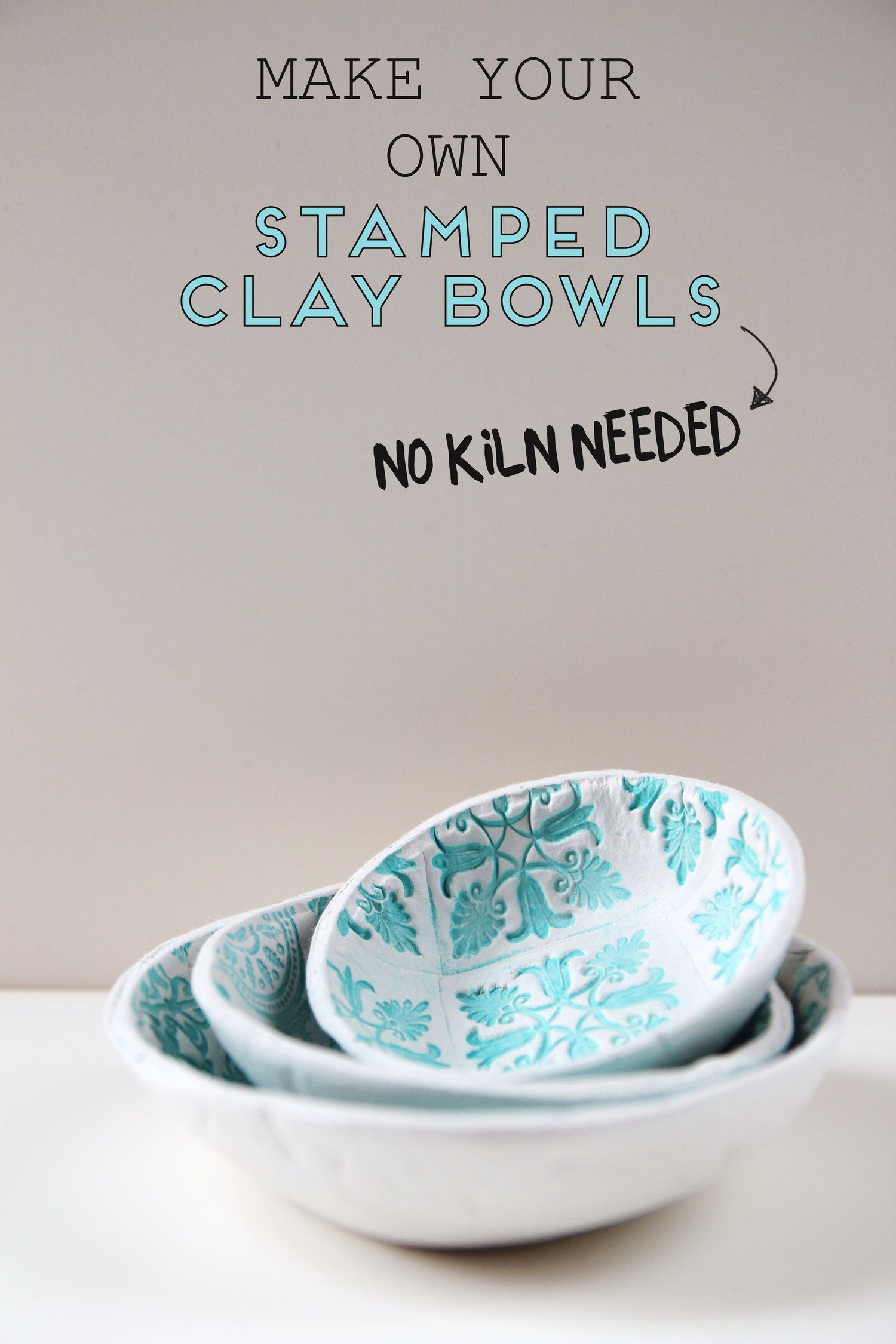 HOW TO MAKE DIY AIR DRY CLAY BOWLS. — Gathering Be