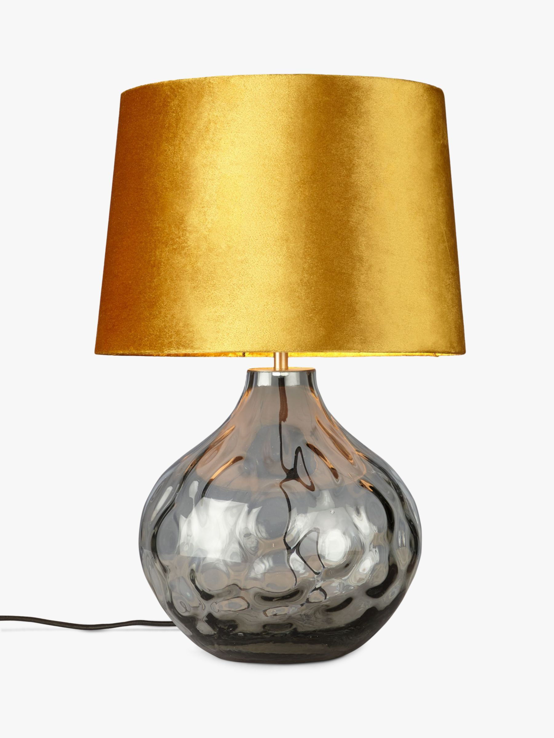 John Lewis Partners Vivienne Smoked Glass Table Lamp In 2020 Table Lamp Glass Ceiling Lights Grey Table Lamps