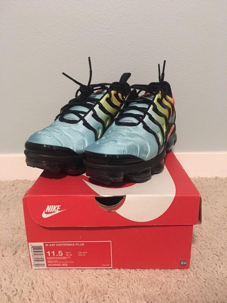 f6b4104e900d BRAND NEW DS NIKE AIR VAPORMAX PLUS BLEACHED AQUA WOMEN 11.5 MEN 10  fashion   clothing  shoes  accessories  womensshoes  athleticshoes (ebay link)