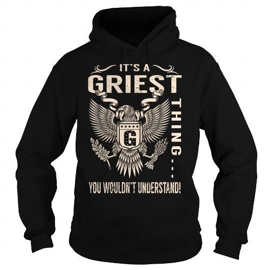I Love Its a GRIEST Thing You Wouldnt Understand - Last Name, Surname T-Shirt (Eagle) T-Shirts
