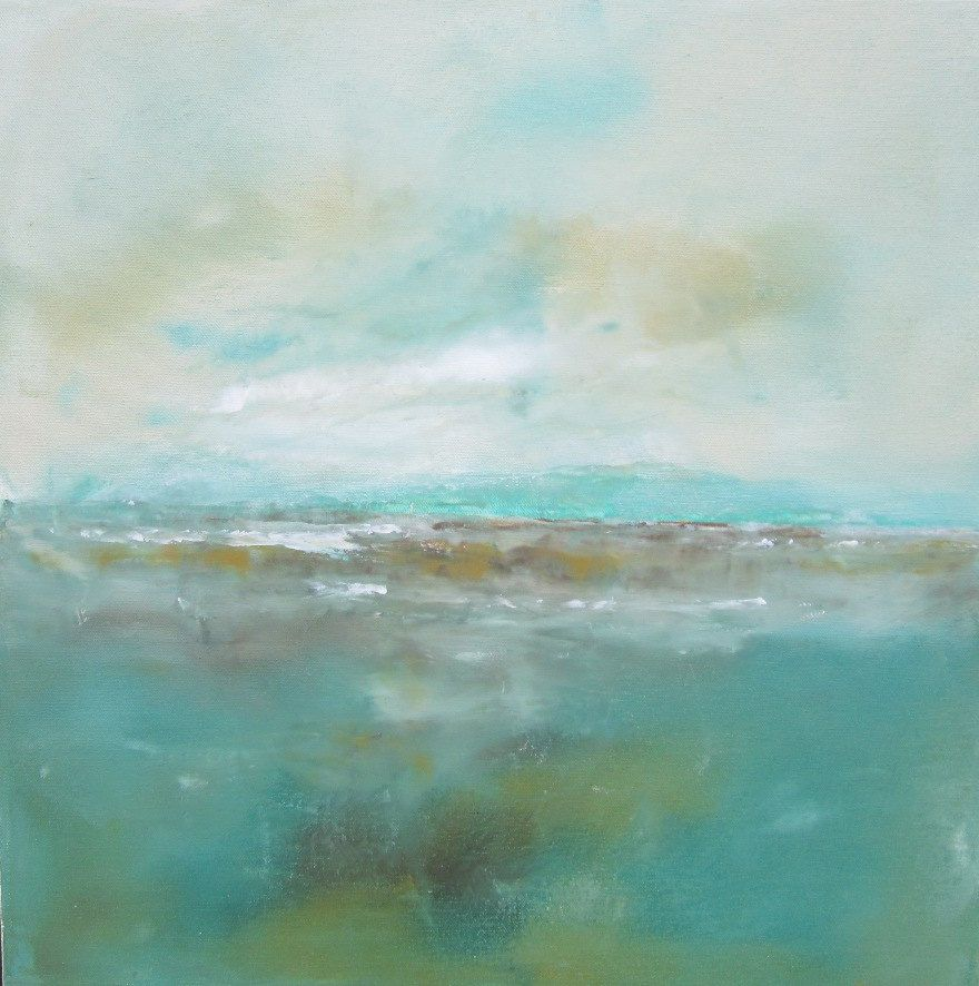 Abstract Landscape Original Art Seaside with by Linda Donohue