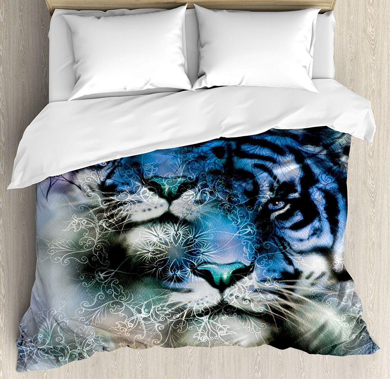 Tiger Safari African Wild Furious Life Animal Duvet Cover
