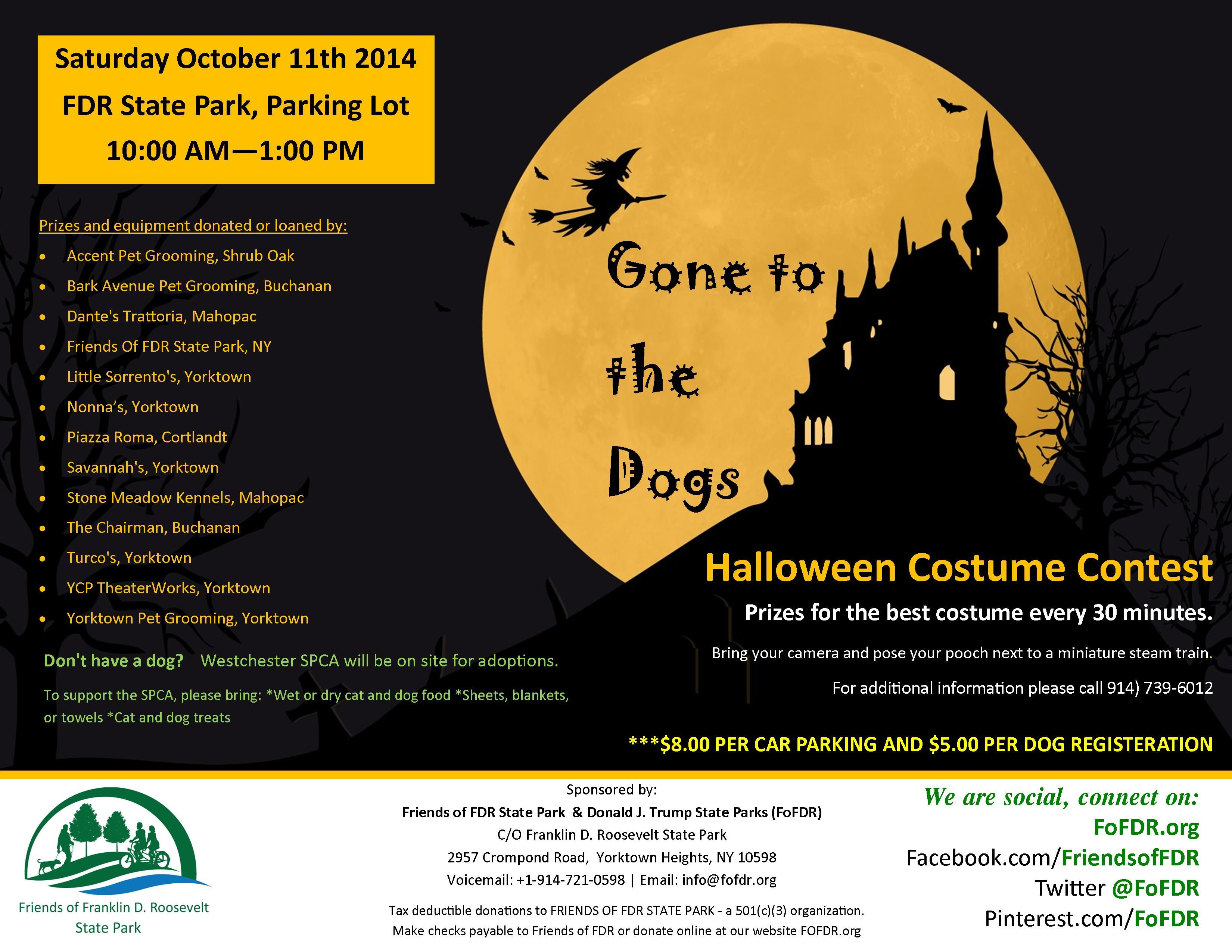 Gone to the Dogs 2014 - Halloween Costume Contest at the FDR State Park Lot# 4 on October 11, 2014 10 AM-1 PM