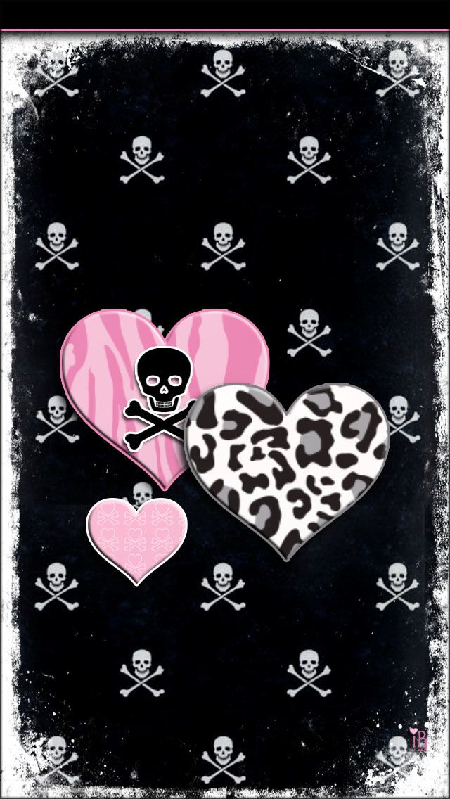 Girly skulls and hearts iphone wallpaper background iphone girly skulls and hearts iphone wallpaper background voltagebd
