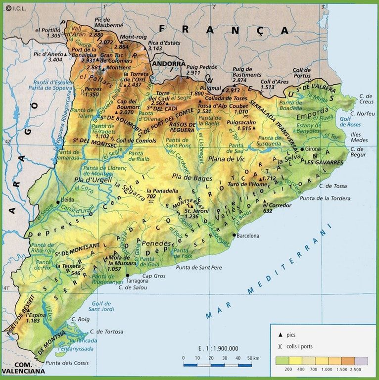 Physical Map of Catalonia   History&Maps   Map, Physics, Art on andorra map, northeastern region and capitals map, madrid map, aragon map, seville map, talamanca map, galicia map, spanish civil war, canary islands, camp nou, catalan people, benelux map, corsica map, basque country, iberian peninsula, balearic islands, spain map, catalan language, libya map, spanish language, catalunya map, andalusia map, the canadian provinces map, catalan map, costa del sol map, alps map, castilla la vieja map, costa blanca map, faroe islands map,