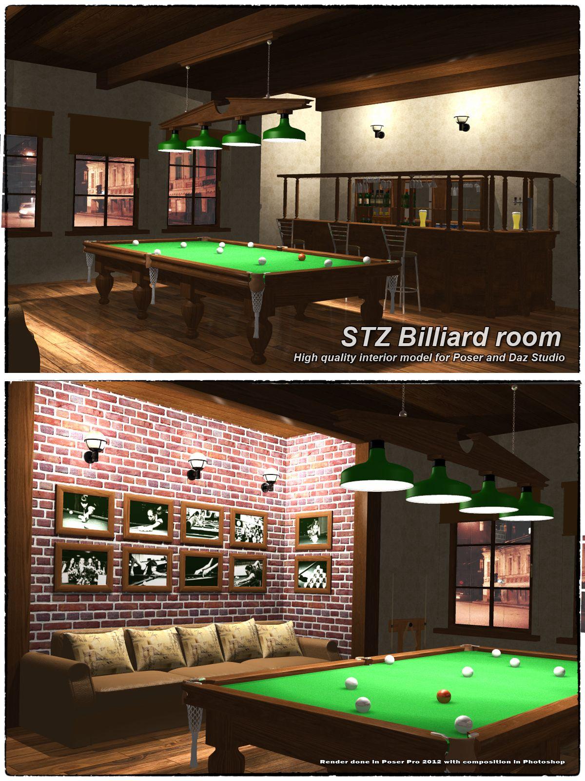 Stz Billiard Room Bilyardnaya Podvaly Interer