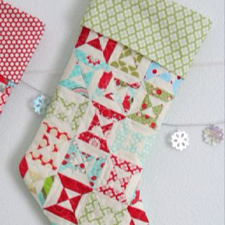 Christmas in July, quilted stocking pattern