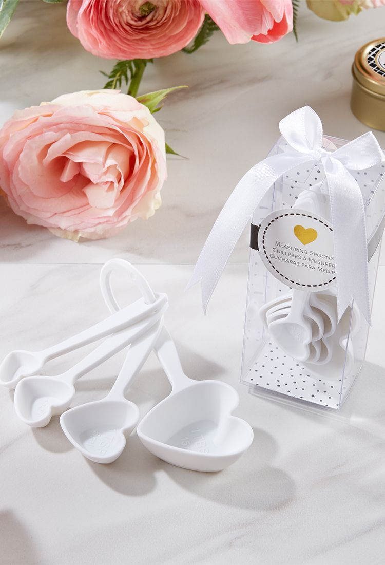 White Heart Plastic Measuring Spoons | Bridal party games, Perfect ...