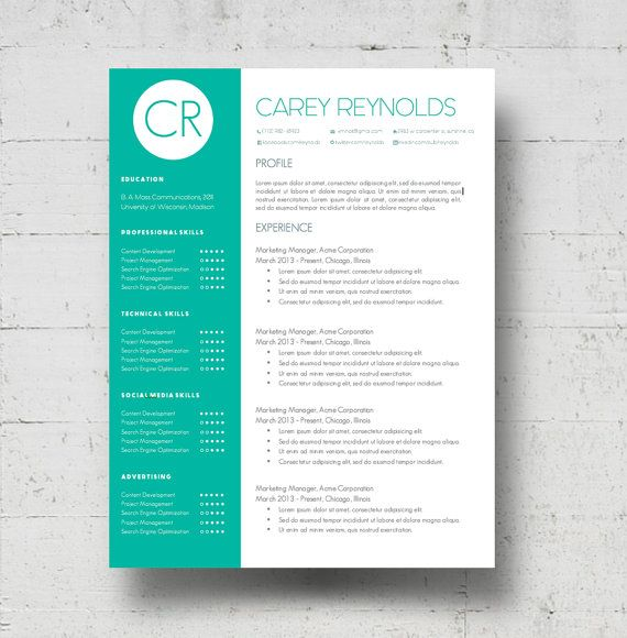 Looking For A Professional Resume Template The Maria Reynolds