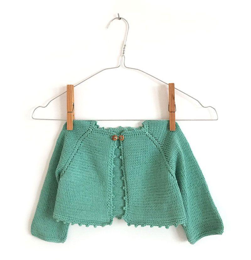 Cómo Tejer una Rebeca de Bebé de Punto a Dos Agujas | crochet para ...