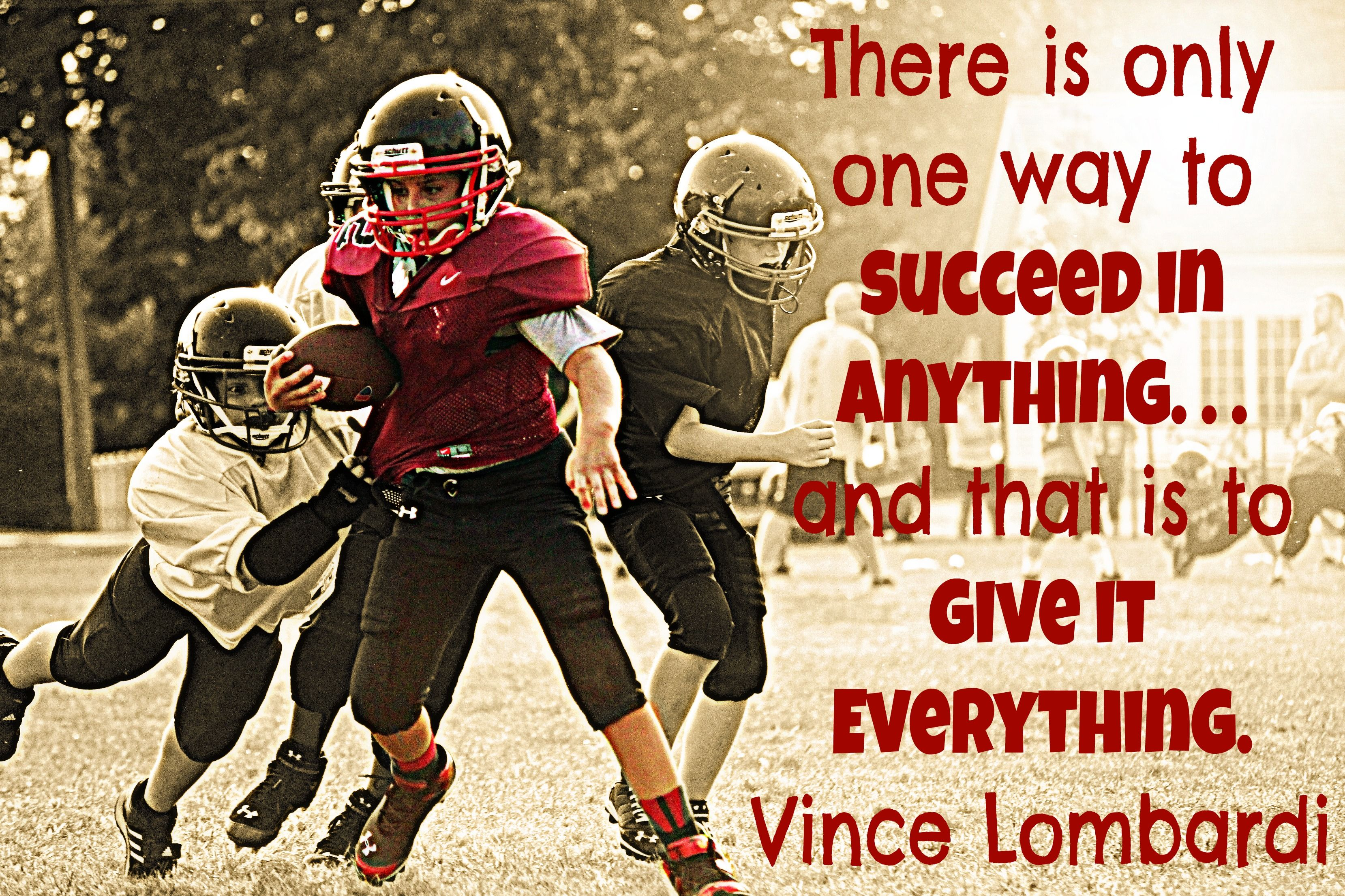Inspirational Football Vince Lombardi Quote Football