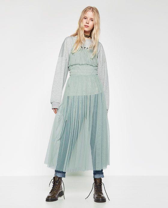 4b586b74ad Image 1 of GATHERED TULLE DRESS from Zara | Apranga ir detales ...