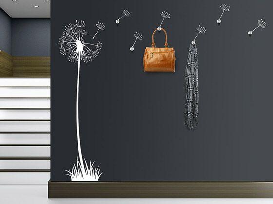 Garderobe Pusteblume mit Haken Pinterest Pusteblume, Garderoben - garderobe selber bauen schner wohnen