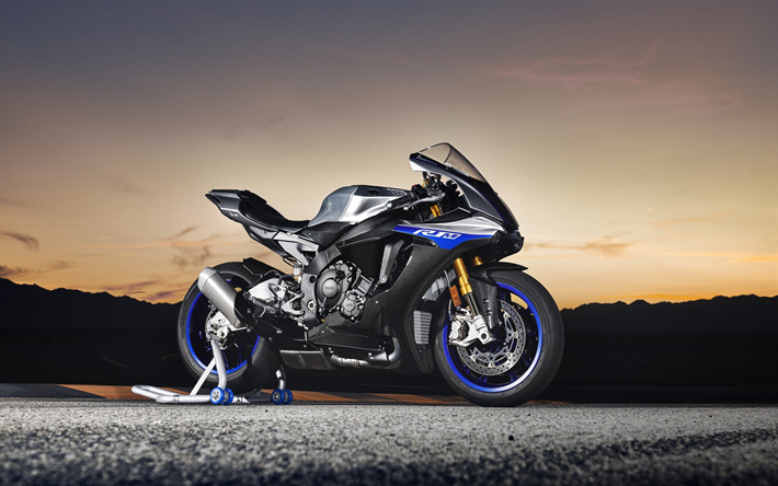 Download Wallpapers Yamaha YZF-R1M, 2018, Sportbike, New