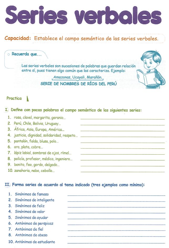 Razonamiento Verbal para Cuarto Grado de Primaria 4º PDF ...