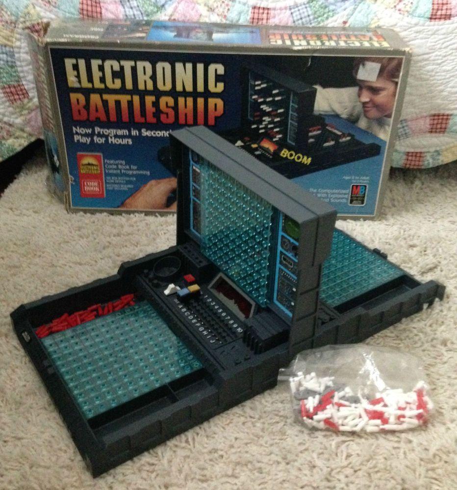 Vintage Electronic Battleship Game 1982 Milton Bradley Vintage Board Games Electronic Battleship Battleship Game Mission Game