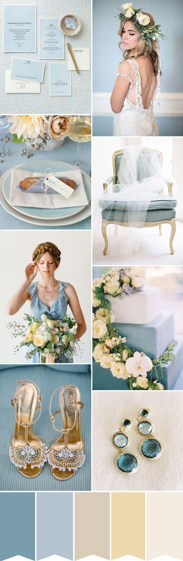 Creating a Romantic Blue and Cream Wedding Theme
