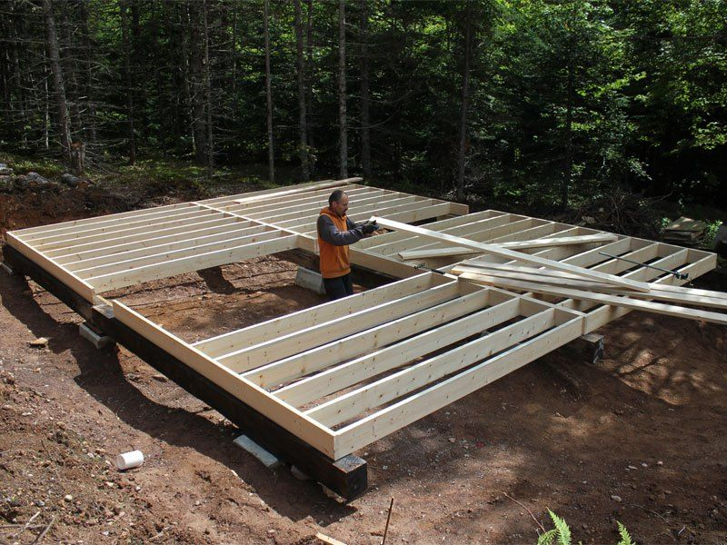 How to frame a floor on piers gurus floor for How to build a pier foundation