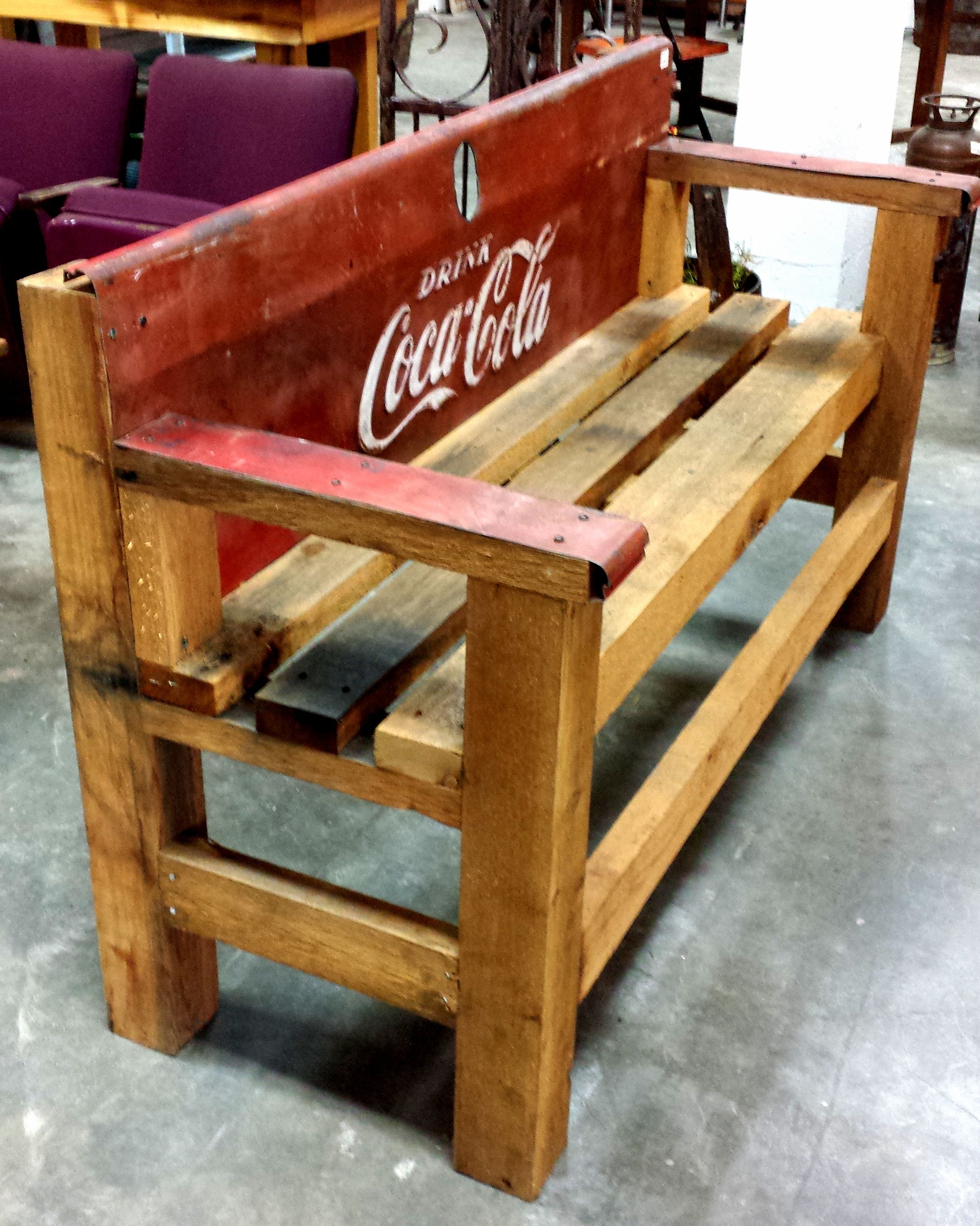 Awesome Upcycled Coca Cola Bench made from the from a ...