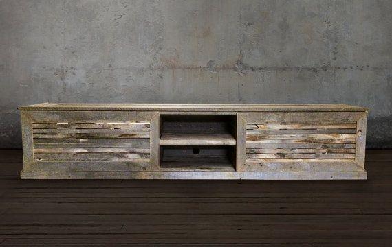 Recuperation Bois Media Console Meubles En Bois De Reclaimed Wood Media Console Wood Media Console Wood Media Unit
