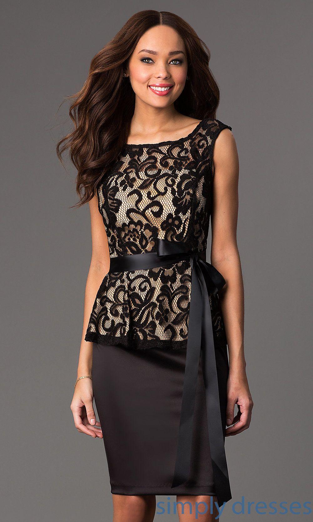 Sally Fashion Lace Peplum Semi Formal Dress | Lace peplum, Peplum ...
