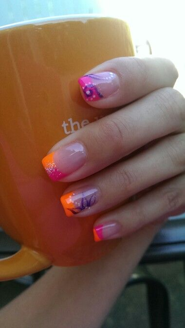 Summertime Nails Nail Designs Pinterest Summertime Hair Make