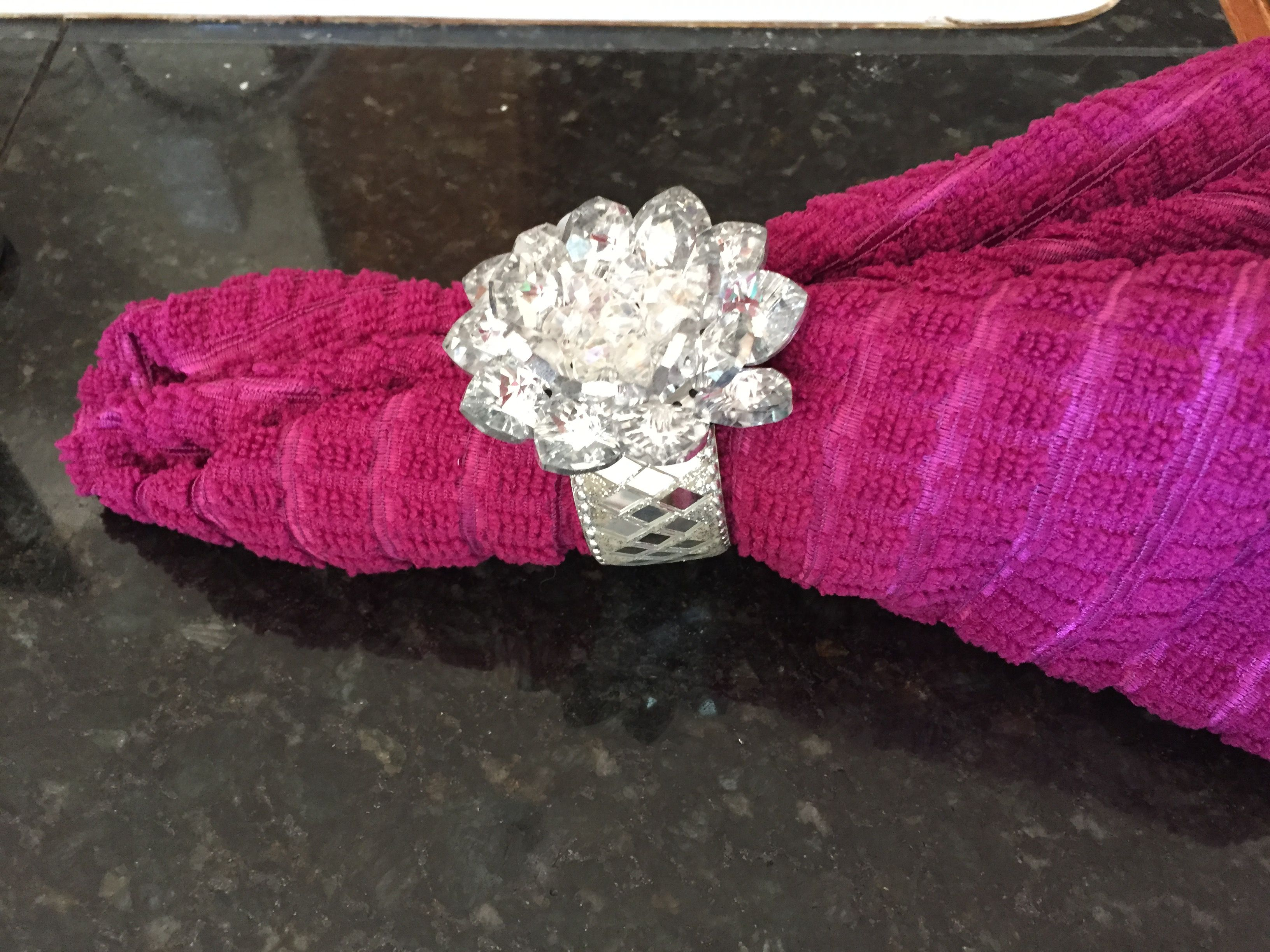 Crystal Broach From Hobby Lobby 10 And Mirror Napkin Rings From Bed Bath And Beyond 10 Rope Bracelet Jewelry Crystals