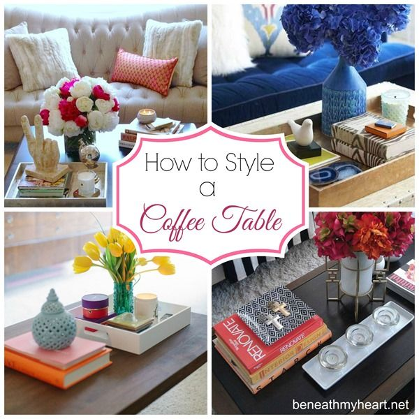 how to style a coffee table beneath