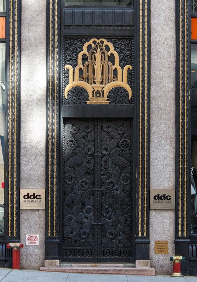 Madison Belmont Building - Art Deco door by Edgar Brandt - more details and photos at & Madison Belmont Building - Art Deco door by Edgar Brandt - more ...