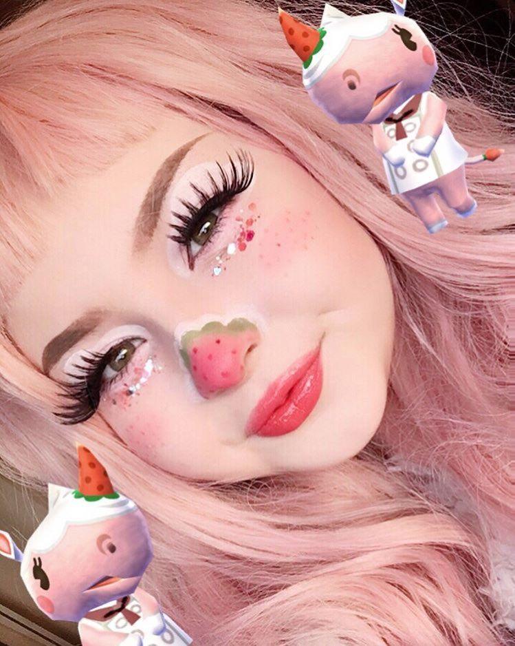bambi! 🍓 on in 2020 Cute makeup looks, Kawaii makeup