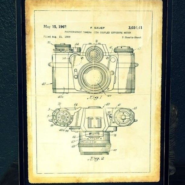 Para los amantes de la fotografía, lámina de cámara antigua. #jblacroux #decor #architecture #homedecor #furniture