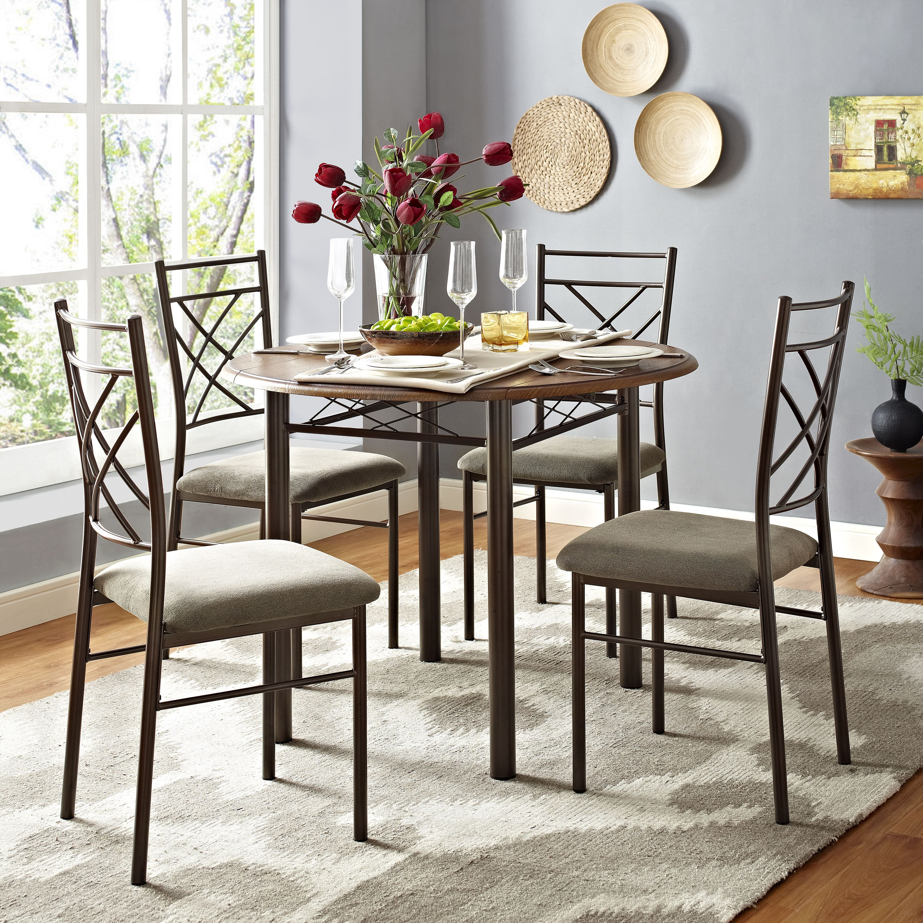 Essential Home Santiago Drop Leaf Dining Set