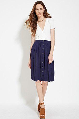 Contemporary Buttoned Skirt   Forever 21 Contemporary - 2000185064