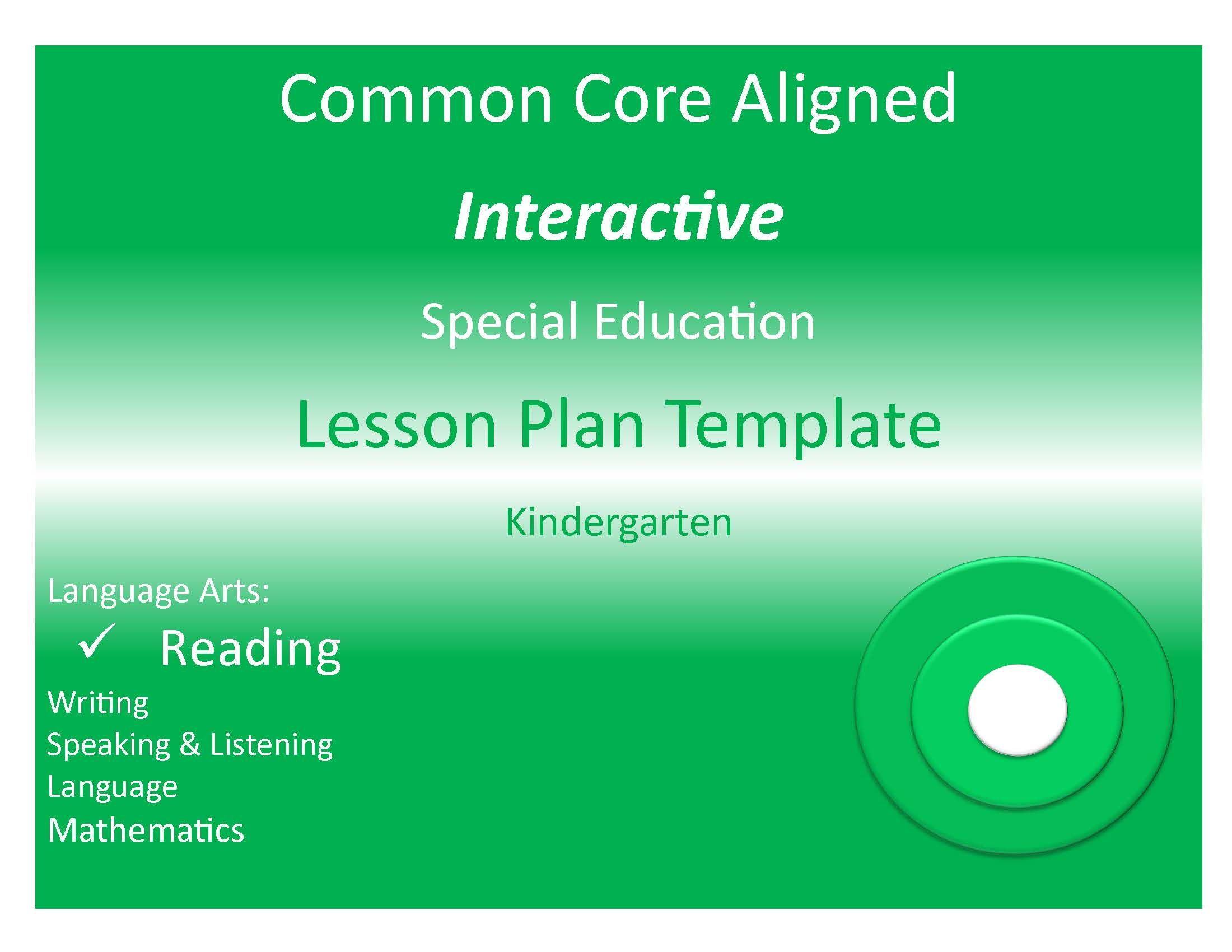 Common Core State Standards Aligned Interactive Special
