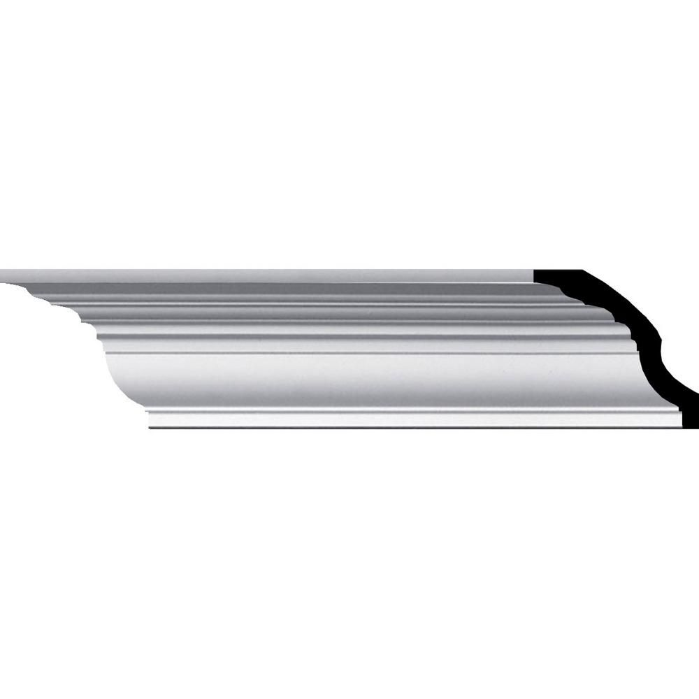 Ekena Millwork 3 1 2 In X 12 In X 3 In Polyurethane Bedford Smooth Crown Moulding Sample Mld03x03x04be The Home Depo In 2020 Ekena Millwork Crown Molding Millwork