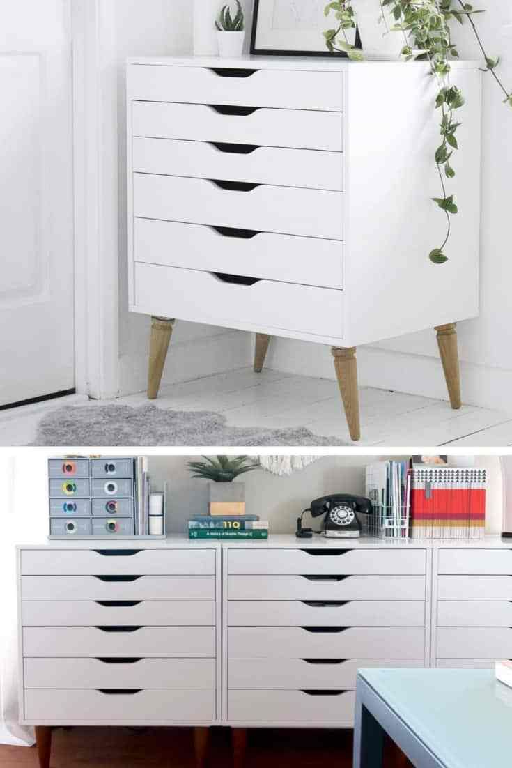 Rainbow IKEA Alex Drawers Hack in 10 Minutes! | Ikea